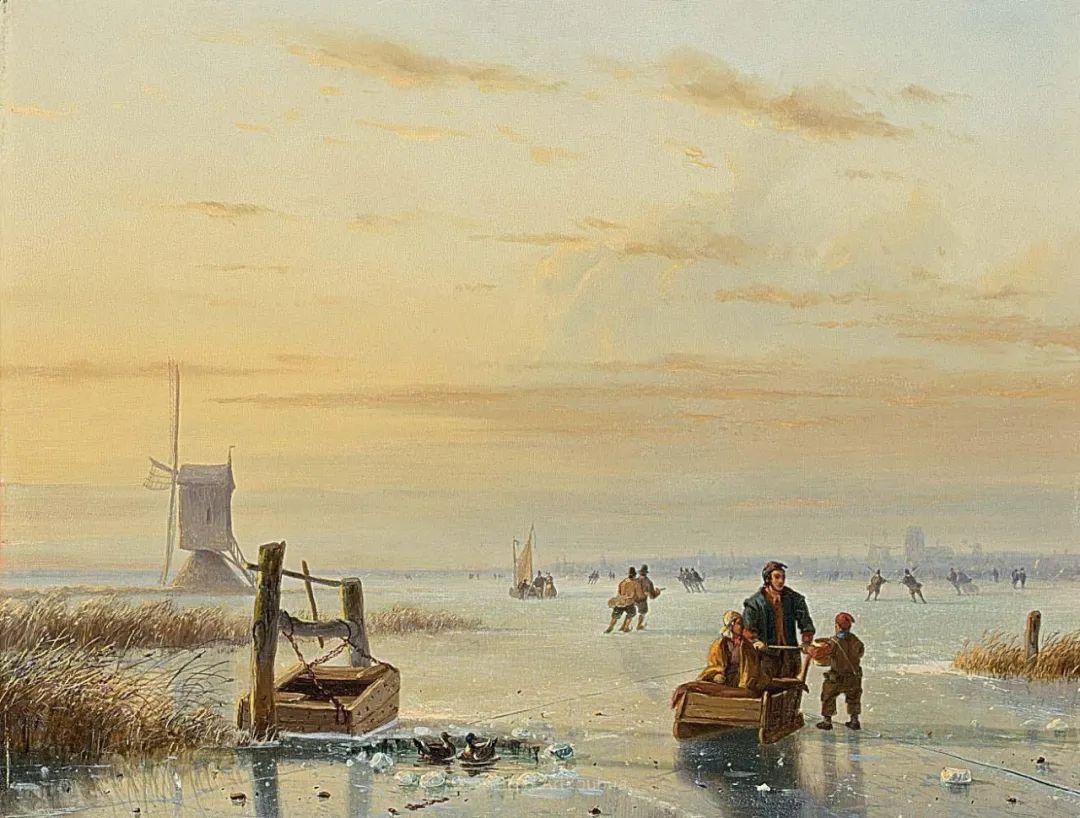 浪漫主义风景画,荷兰画家尼古拉斯·鲁森博姆插图11