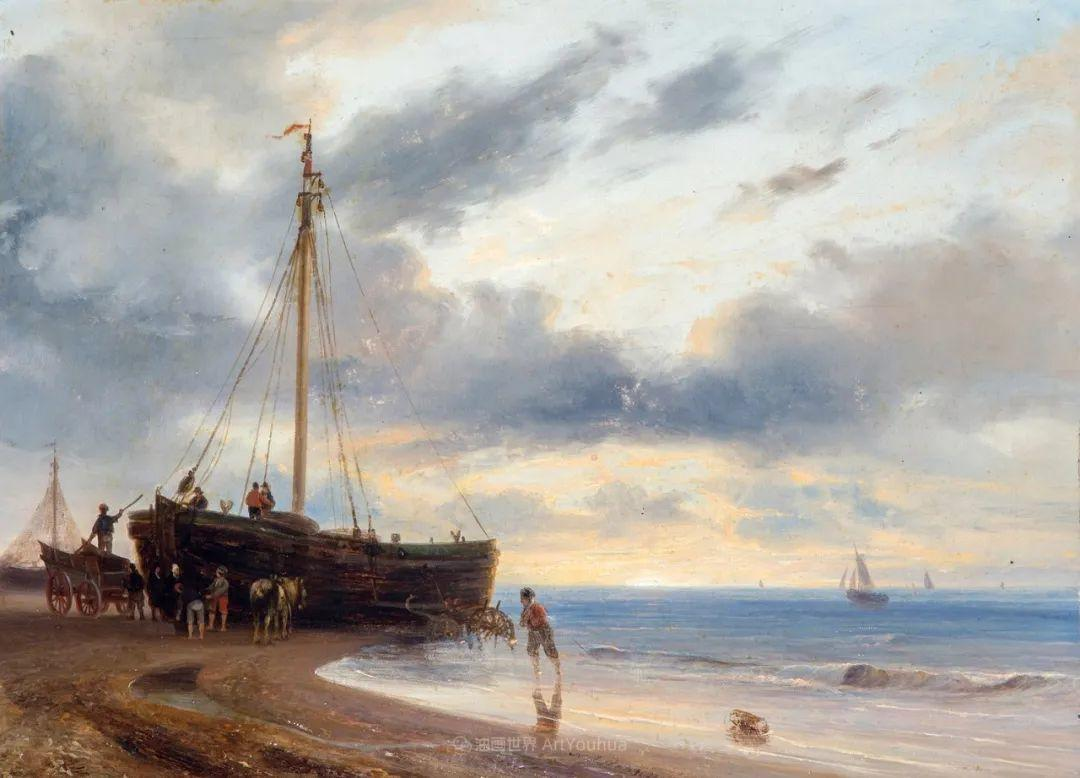浪漫主义风景画,荷兰画家尼古拉斯·鲁森博姆插图13
