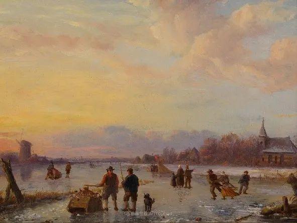 浪漫主义风景画,荷兰画家尼古拉斯·鲁森博姆插图15