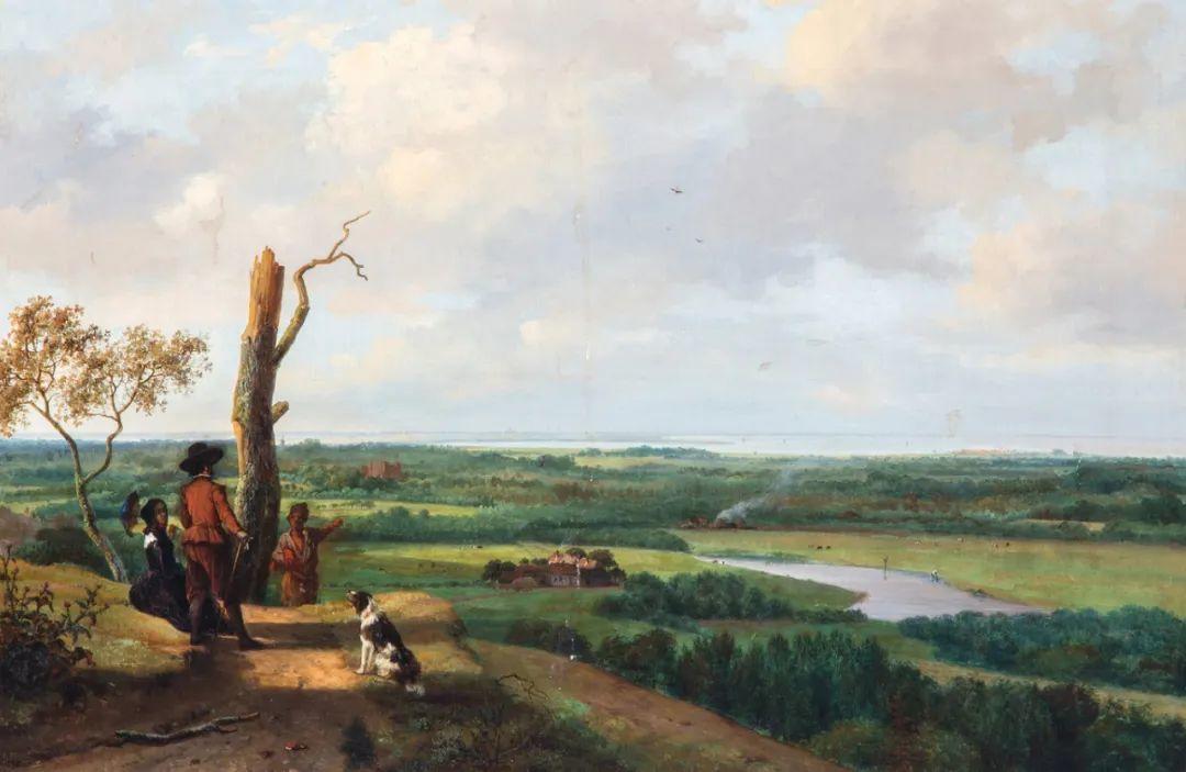 浪漫主义风景画,荷兰画家尼古拉斯·鲁森博姆插图17