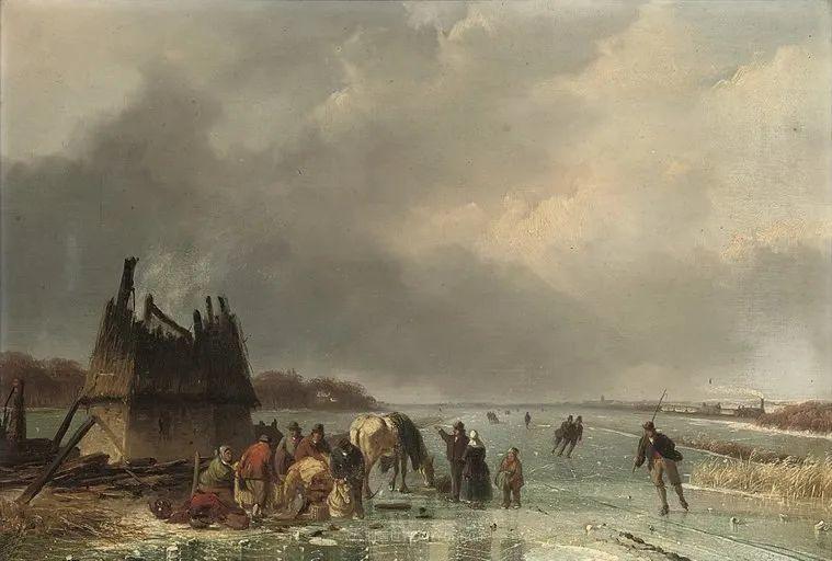 浪漫主义风景画,荷兰画家尼古拉斯·鲁森博姆插图19