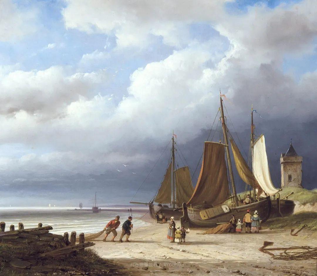 浪漫主义风景画,荷兰画家尼古拉斯·鲁森博姆插图23