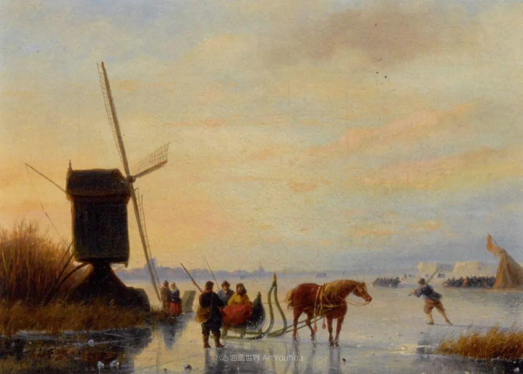 浪漫主义风景画,荷兰画家尼古拉斯·鲁森博姆插图25