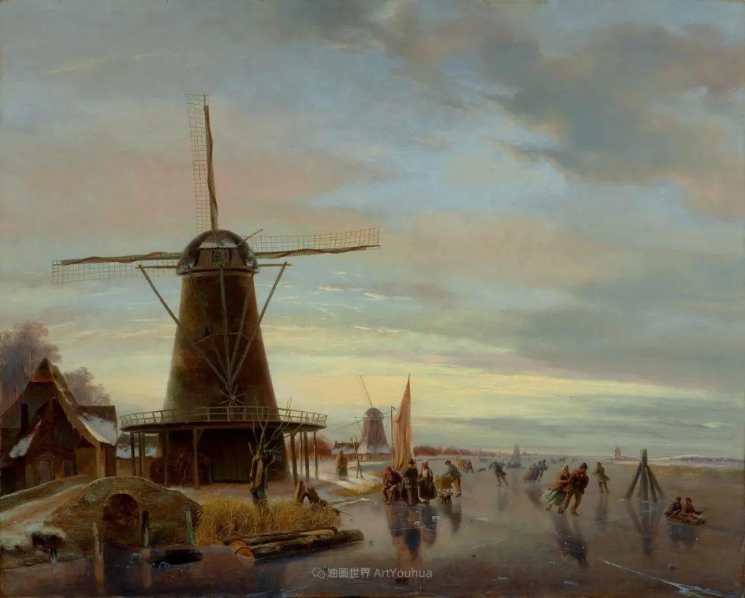 浪漫主义风景画,荷兰画家尼古拉斯·鲁森博姆插图27
