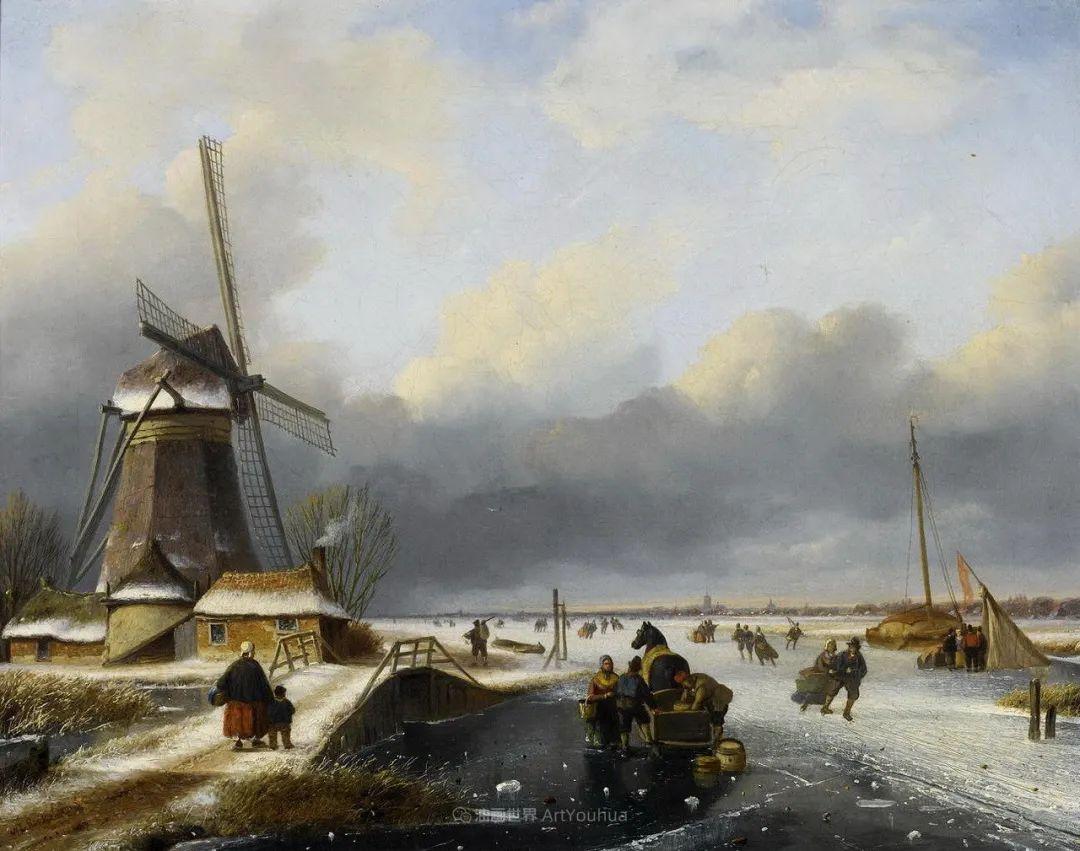 浪漫主义风景画,荷兰画家尼古拉斯·鲁森博姆插图29