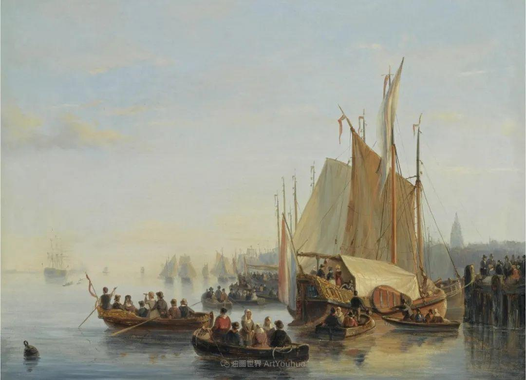 浪漫主义风景画,荷兰画家尼古拉斯·鲁森博姆插图31