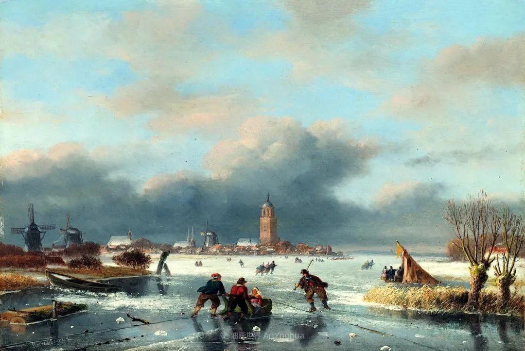 浪漫主义风景画,荷兰画家尼古拉斯·鲁森博姆插图35
