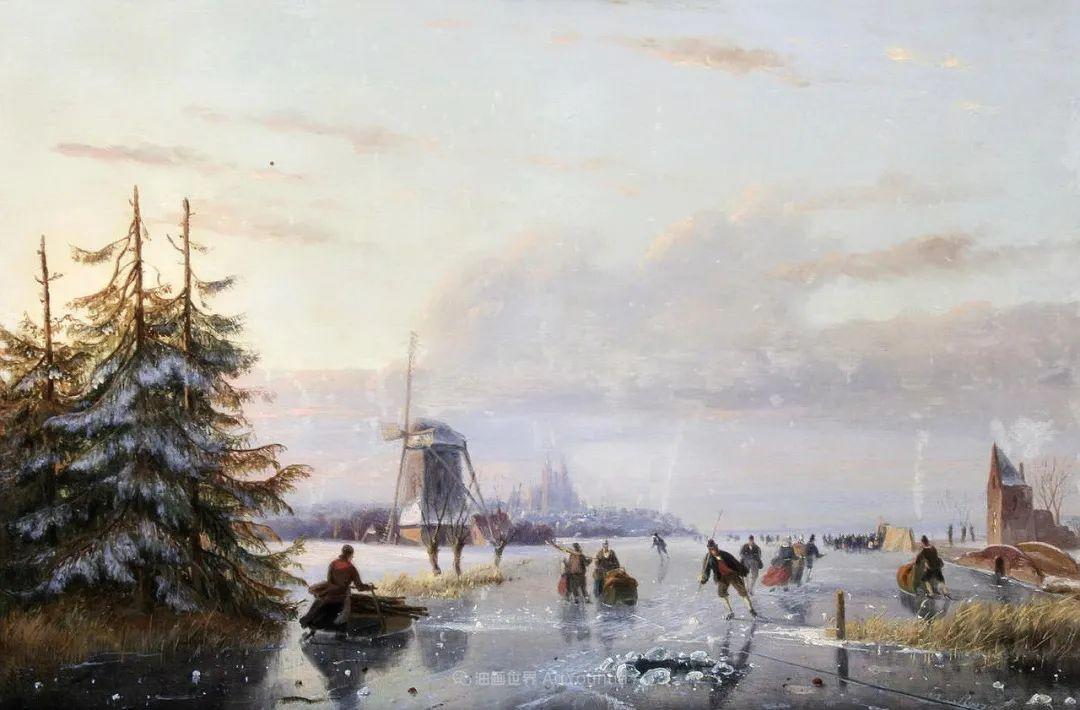 浪漫主义风景画,荷兰画家尼古拉斯·鲁森博姆插图37