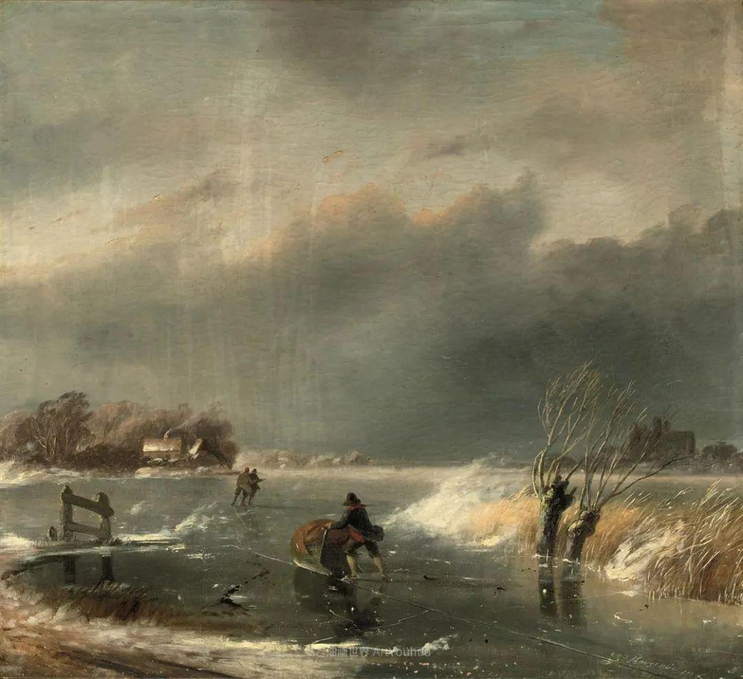 浪漫主义风景画,荷兰画家尼古拉斯·鲁森博姆插图39