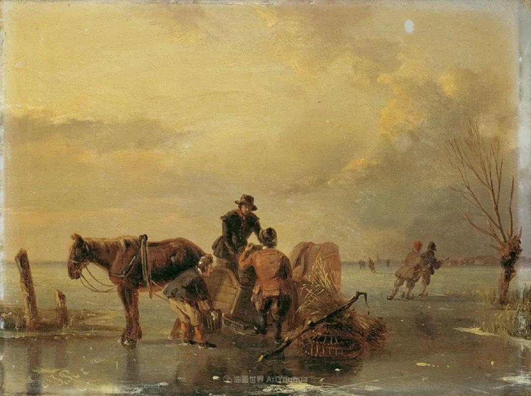 浪漫主义风景画,荷兰画家尼古拉斯·鲁森博姆插图41