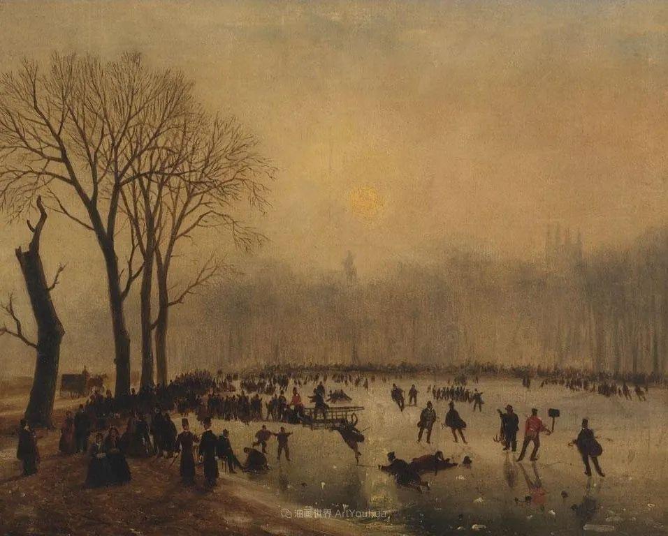 浪漫主义风景画,荷兰画家尼古拉斯·鲁森博姆插图43