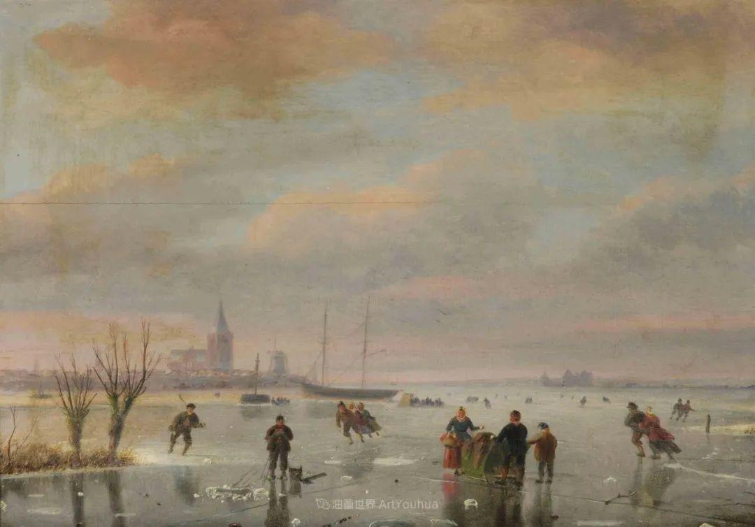 浪漫主义风景画,荷兰画家尼古拉斯·鲁森博姆插图45