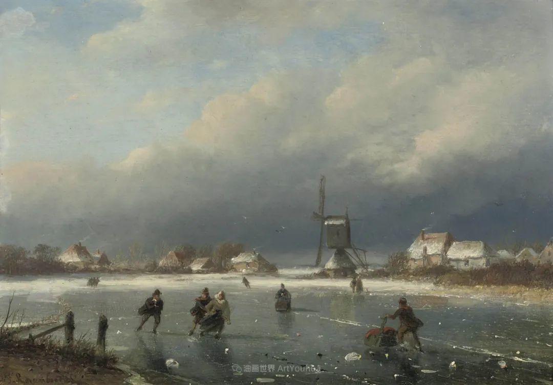 浪漫主义风景画,荷兰画家尼古拉斯·鲁森博姆插图47