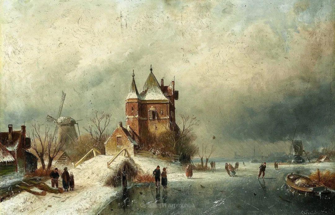 浪漫主义风景画,荷兰画家尼古拉斯·鲁森博姆插图49