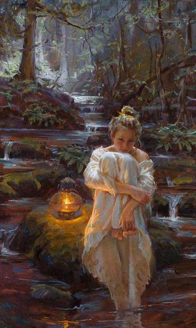 油画里,光影中的美女,一美千年!插图