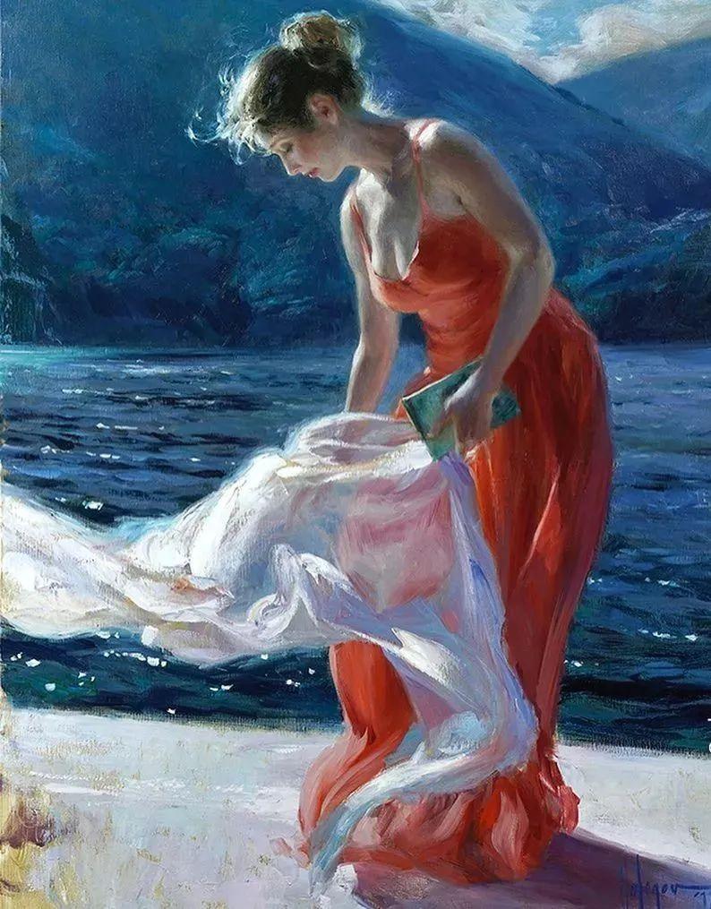 油画里,光影中的美女,一美千年!插图5