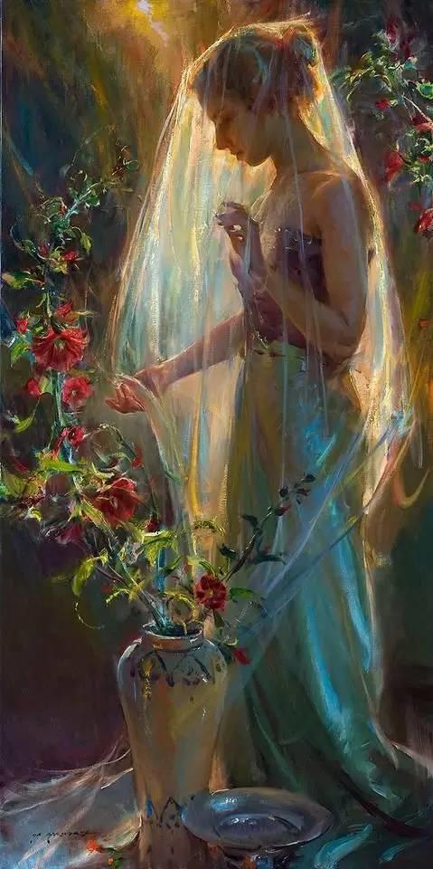 油画里,光影中的美女,一美千年!插图14