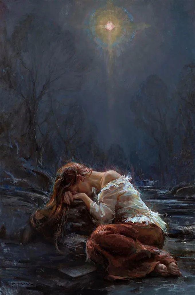 油画里,光影中的美女,一美千年!插图36