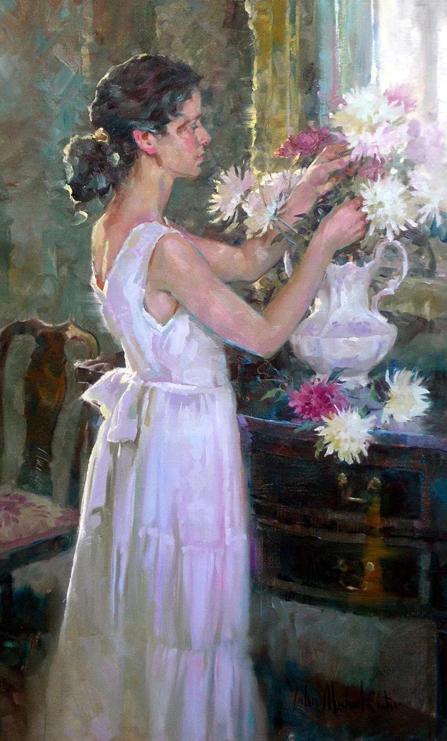 女人与花,世间最美的画卷!插图1