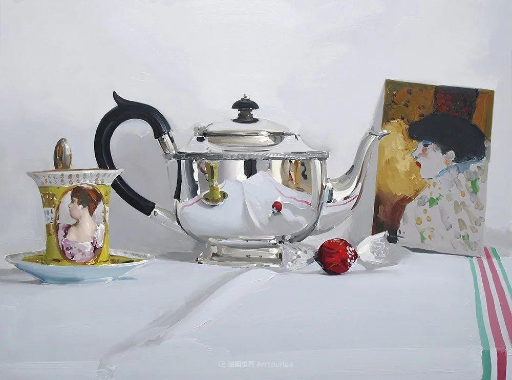 英国画家 Alan kingsbury  艾伦·金斯伯里 质感超强静物欣赏插图48