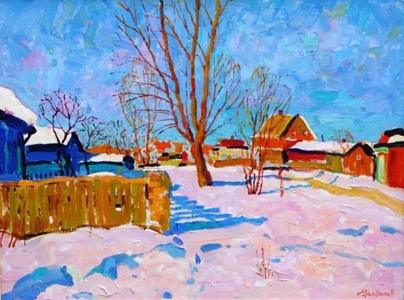 浓郁迷人的风景画,俄罗斯画家Bakhvalov Stanislav作品插图1