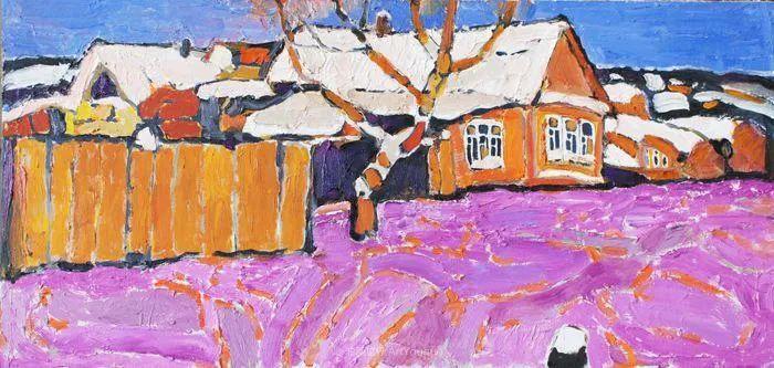 浓郁迷人的风景画,俄罗斯画家Bakhvalov Stanislav作品插图9