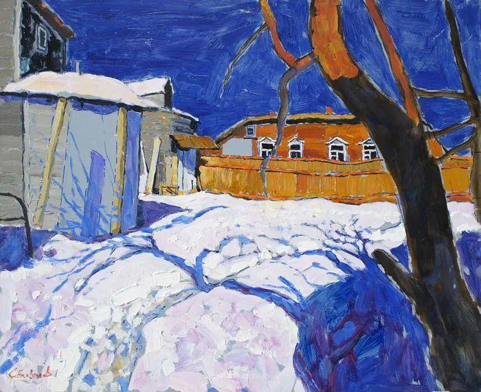浓郁迷人的风景画,俄罗斯画家Bakhvalov Stanislav作品插图33