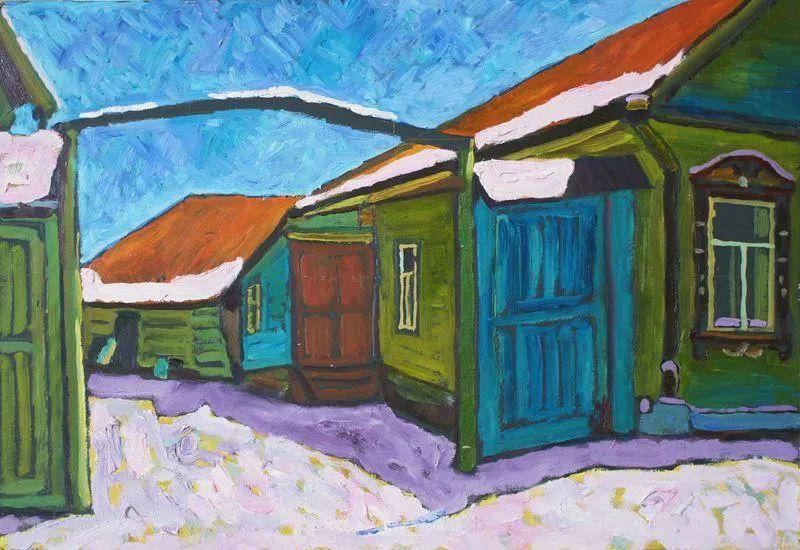 浓郁迷人的风景画,俄罗斯画家Bakhvalov Stanislav作品插图45