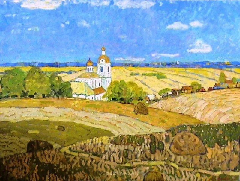 浓郁迷人的风景画,俄罗斯画家Bakhvalov Stanislav作品插图49