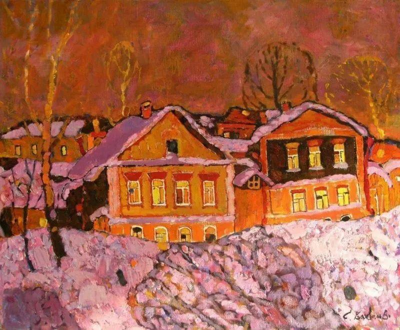 浓郁迷人的风景画,俄罗斯画家Bakhvalov Stanislav作品插图57