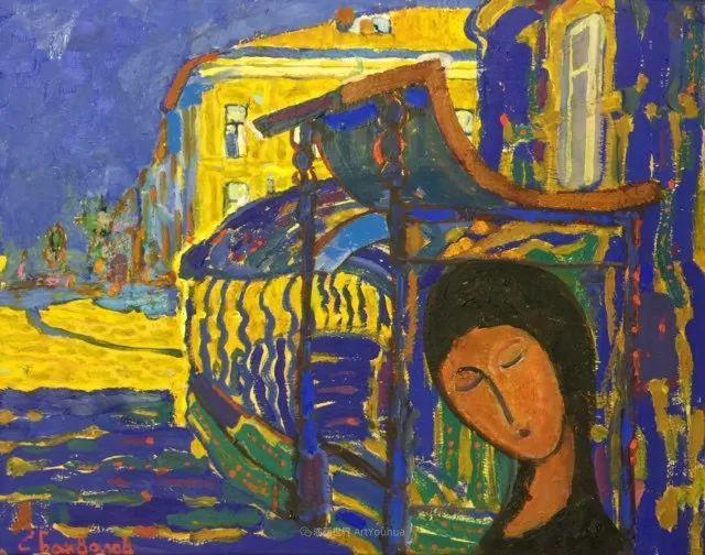 浓郁迷人的风景画,俄罗斯画家Bakhvalov Stanislav作品插图69