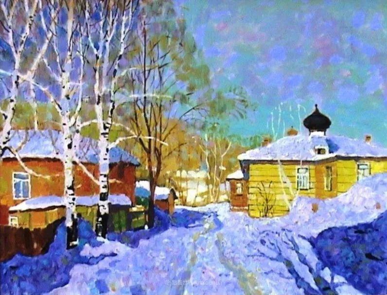 浓郁迷人的风景画,俄罗斯画家Bakhvalov Stanislav作品插图75