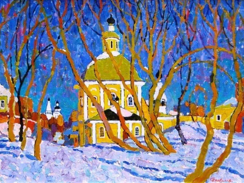 浓郁迷人的风景画,俄罗斯画家Bakhvalov Stanislav作品插图83