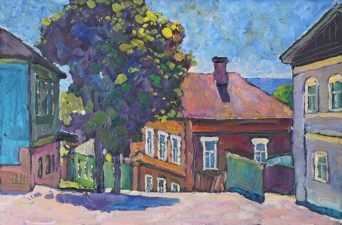 浓郁迷人的风景画,俄罗斯画家Bakhvalov Stanislav作品插图85