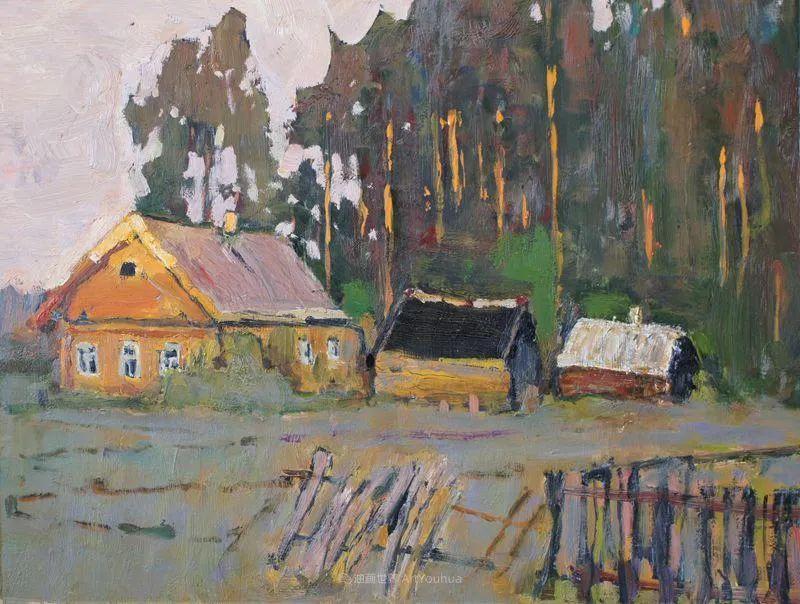 浓郁迷人的风景画,俄罗斯画家Bakhvalov Stanislav作品插图87