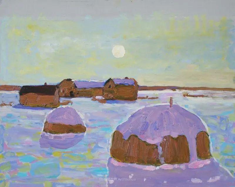浓郁迷人的风景画,俄罗斯画家Bakhvalov Stanislav作品插图91