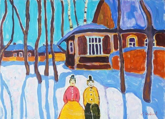 浓郁迷人的风景画,俄罗斯画家Bakhvalov Stanislav作品插图101
