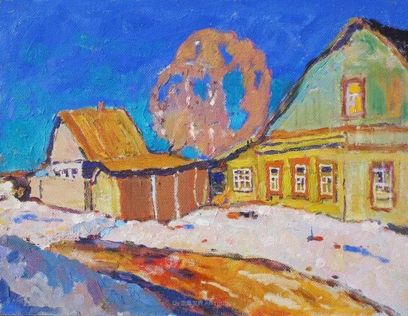 浓郁迷人的风景画,俄罗斯画家Bakhvalov Stanislav作品插图109