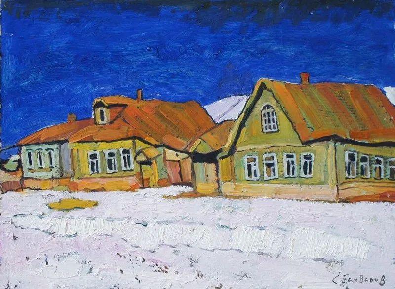 浓郁迷人的风景画,俄罗斯画家Bakhvalov Stanislav作品插图113
