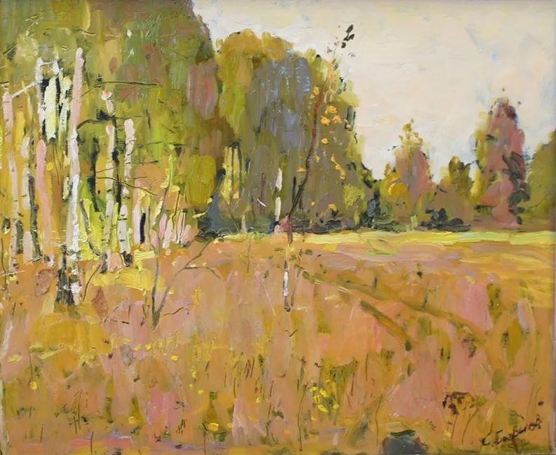 浓郁迷人的风景画,俄罗斯画家Bakhvalov Stanislav作品插图115