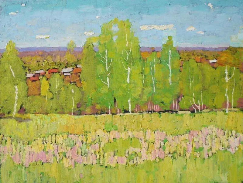 浓郁迷人的风景画,俄罗斯画家Bakhvalov Stanislav作品插图117