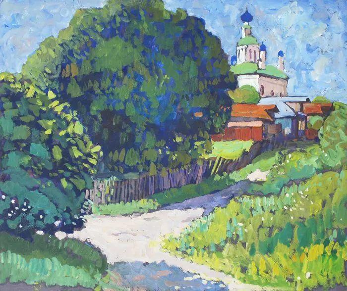 浓郁迷人的风景画,俄罗斯画家Bakhvalov Stanislav作品插图131