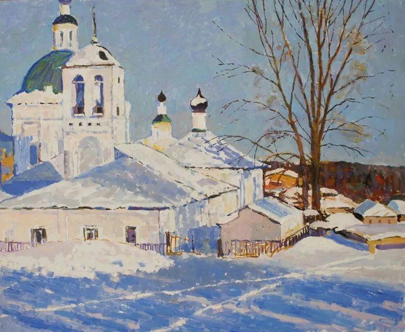浓郁迷人的风景画,俄罗斯画家Bakhvalov Stanislav作品插图135