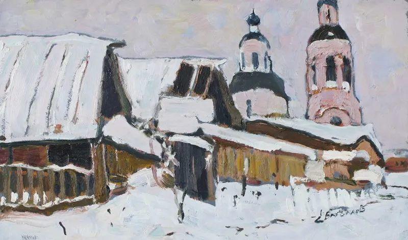 浓郁迷人的风景画,俄罗斯画家Bakhvalov Stanislav作品插图137