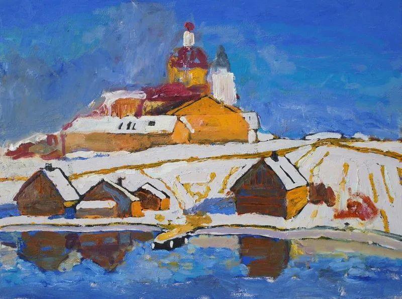 浓郁迷人的风景画,俄罗斯画家Bakhvalov Stanislav作品插图139