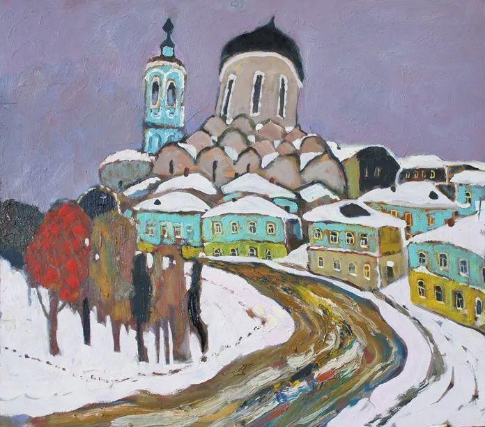 浓郁迷人的风景画,俄罗斯画家Bakhvalov Stanislav作品插图141