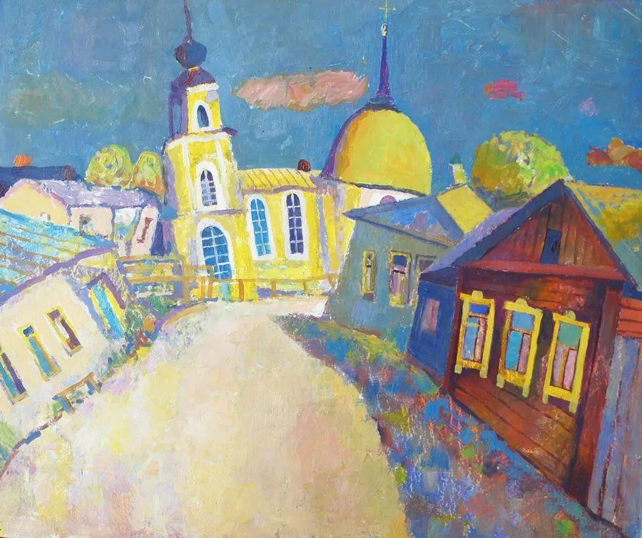 浓郁迷人的风景画,俄罗斯画家Bakhvalov Stanislav作品插图147
