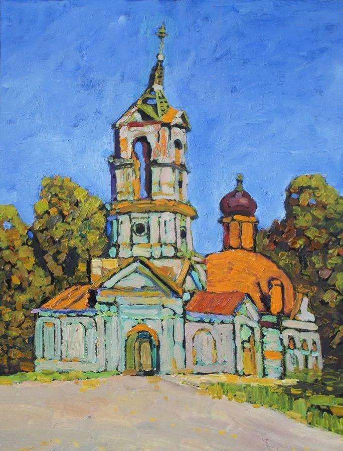 浓郁迷人的风景画,俄罗斯画家Bakhvalov Stanislav作品插图149