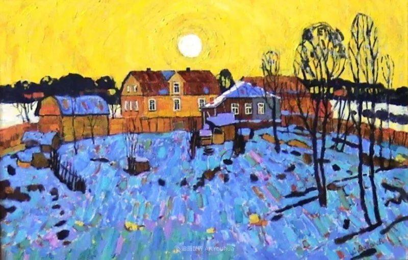 浓郁迷人的风景画,俄罗斯画家Bakhvalov Stanislav作品插图157