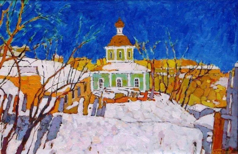 浓郁迷人的风景画,俄罗斯画家Bakhvalov Stanislav作品插图161